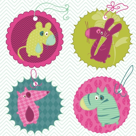 Design elements for baby scrapbook Stock Vector - 9809784