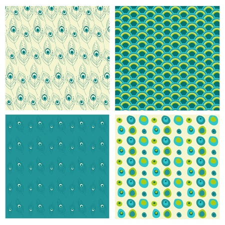 piuma di pavone: Piume di pavone - set di sfondi per il design, scrapbook - vedi pi� nel mio profilo