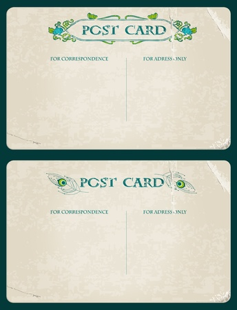 Antique postcards in vector - see more in my profile Stock Vector - 9942144