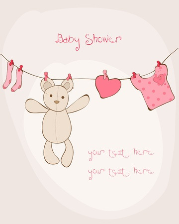 Baby Shower Card with place for your text in vector Vector