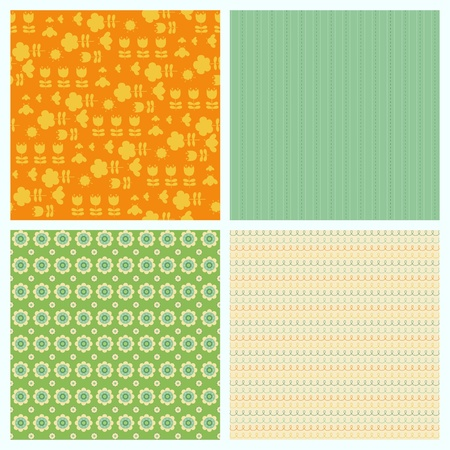Set of seamless backgrounds for Scrapbook and design Vector