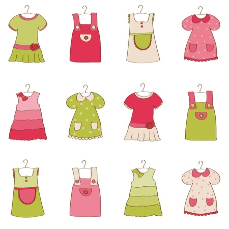 Baby Girl Dress Collection Stock Vector - 10136946