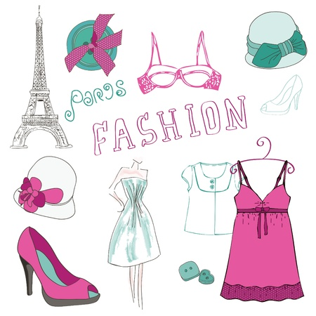 Fashion Scrap Elements - für Ihre Design-und Scrapbook Vektorgrafik