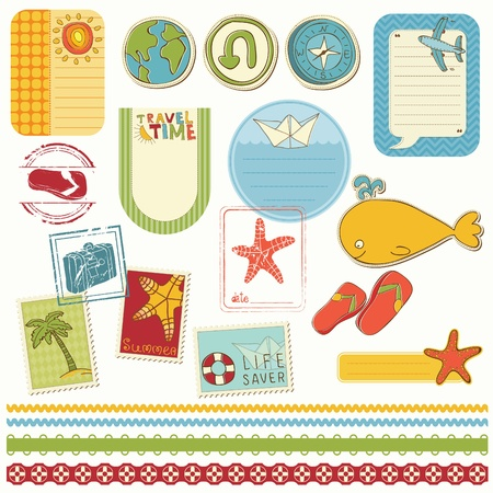 Conjunto de Bloc de notas de vacaciones de verano