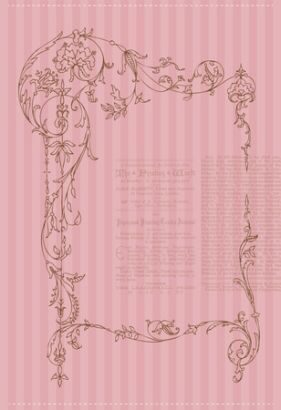 Beautiful Retro Card - for invitation, greetings, congratulation, wedding Stock Vector - 10462961