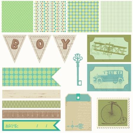 Scrapbook design elements - Vintage Boy Set Stock Vector - 10462968