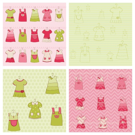 green dress: Seamless background Collection - Baby Girl Dress