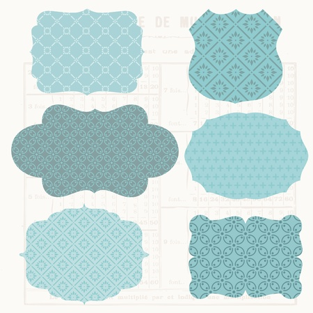 Vintage Design elements for scrapbook - Old tags and frames Stock Vector - 10462973