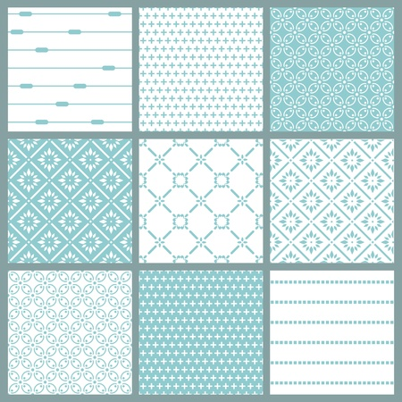 Seamless backgrounds Collection - Vintage Tile Stock Vector - 10462959