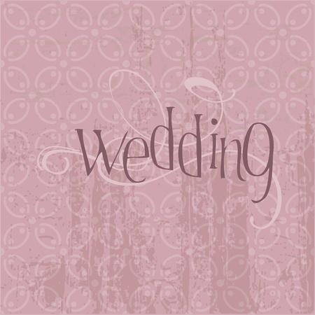 Vintage Wedding Postcard - for design, invitation, congratulation, scrapbook Vector