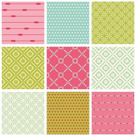 bribe: Seamless arri�re-plans color�s Collection - Tile Vintage