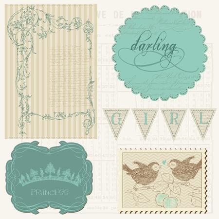 Scrapbook design elements - Beautiful Girl Stock Vector - 10662886