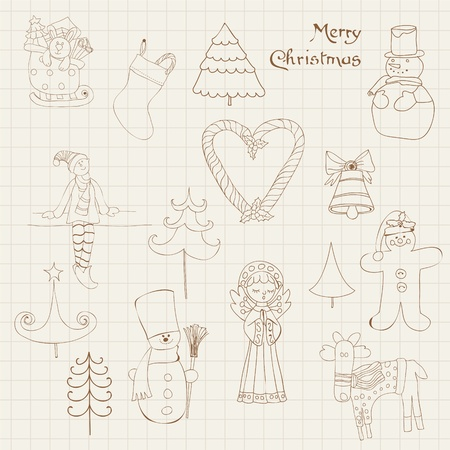 Christmas Design Elements - for scrapbook, design, invitation, greetings Stock Vector - 10789146