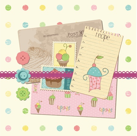 layout strawberry: Scrapbook design elements - Sweet Cakes and Desserts