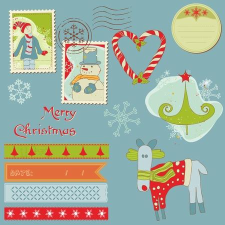 Christmas Design Elements - for scrapbook, design, invitation, greetings Vector