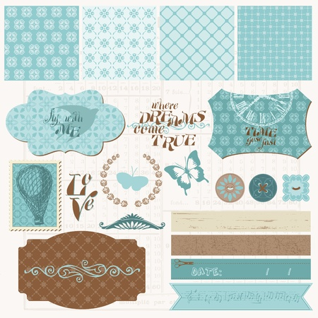 time frame: Scrapbook design elements - Vintage Love Set