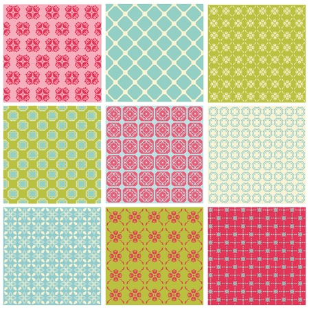 scrap paper: Seamless Colorful background Collection - Vintage Tile