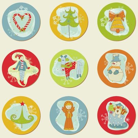 scrap: No�l Stickes - �l�ments de conception pour scrapbook, invitation, voeux