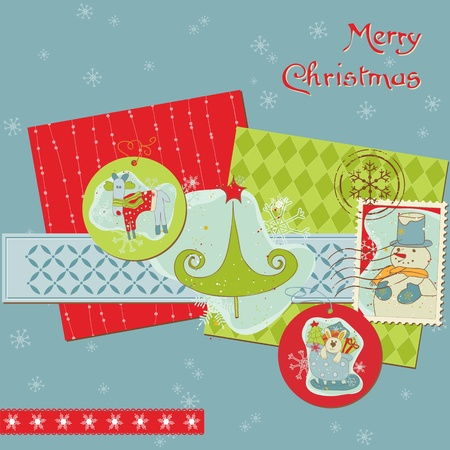 Christmas Design Elements - for scrapbook, design, invitation, greetings Stock Vector - 11211366