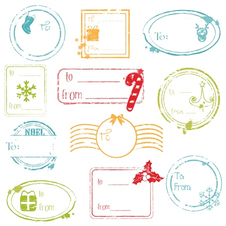 Christmas Gift Tags Collection - great set for your design, scrapbook, invitation Vector