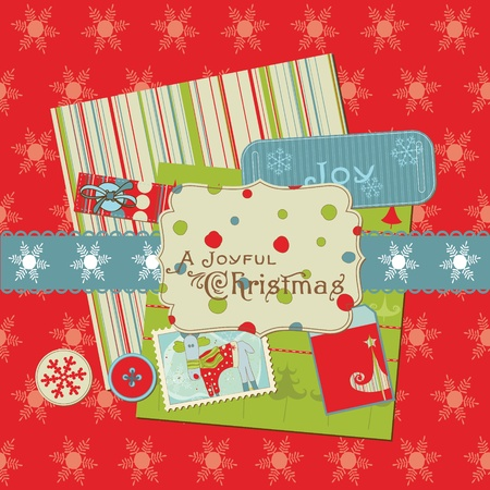 Christmas Design Elements - for scrapbook, design, invitation, greetings Vector