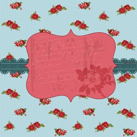 Vintage Flower Card - for invitation, congratulation, wedding in vector Vector