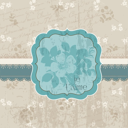 Vintage Flower Card - for invitation, congratulation, wedding in vector Vector