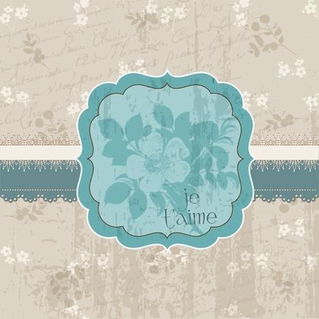 Vintage Flower Card - for invitation, congratulation, wedding in vector Stock Vector - 11480511