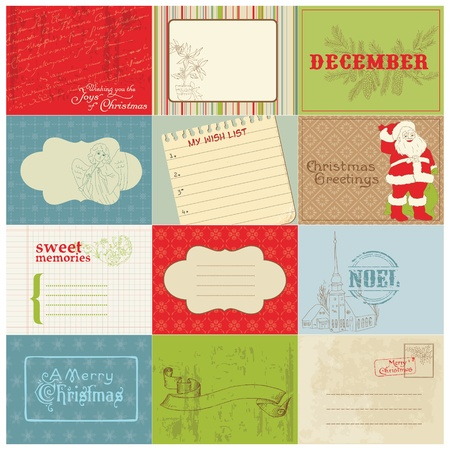 Set of Christmas Vintage Design Elements in vector Stock Vector - 11480548