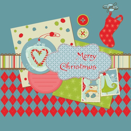 Christmas Design Elements - for scrapbook, design, invitation, greetings Stock Vector - 11480510