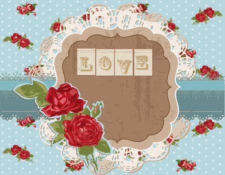 Scrapbook Design Elements - Vintage Flowers Scrapbook Page in vector Vector