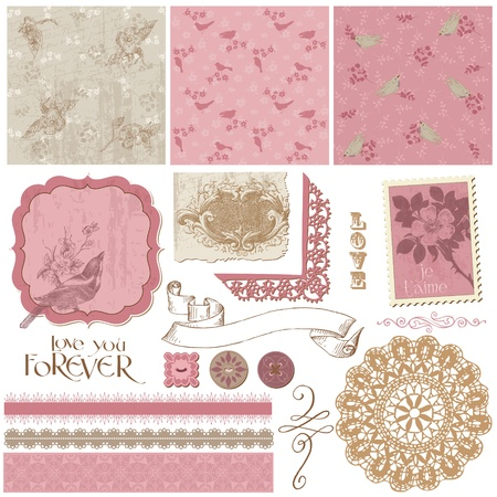 copybook: Scrapbook Design Elements - Vintage Birds and Flowers