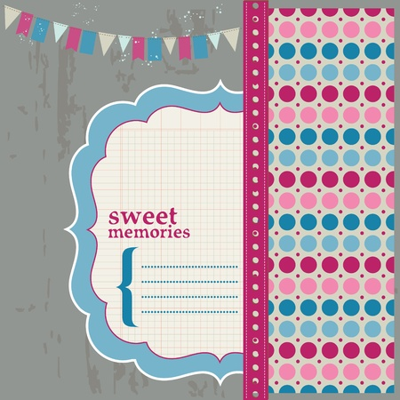 Scrapbook Design Elements - Beautiful Page for your birthday, congratulation, invitation Stock Vector - 11889662