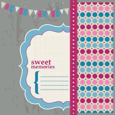 Scrapbook Design Elements - Beautiful Page for your birthday, congratulation, invitation Stock Vector - 11889662