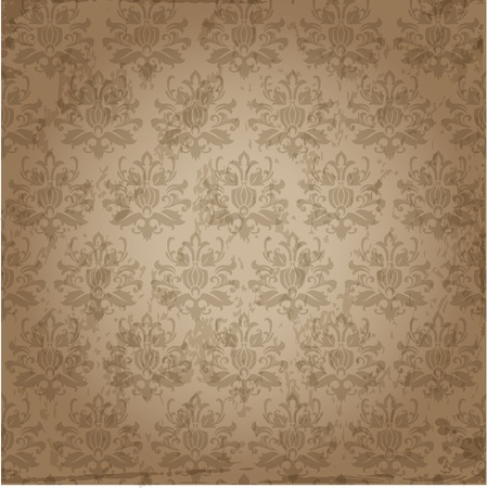 Seamless Damask Wallpaper Pattern  Vector