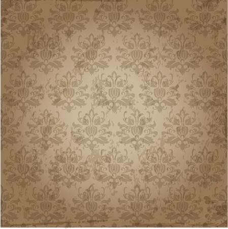 victorian textile: Seamless Damask Wallpaper Pattern
