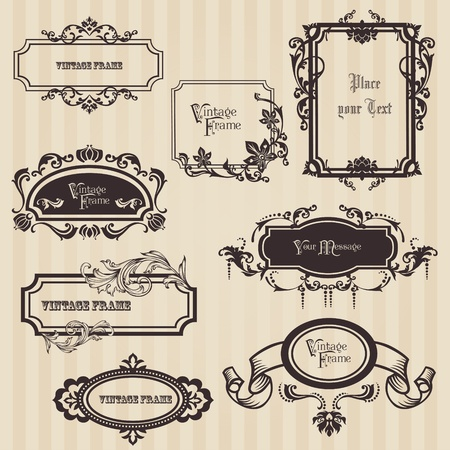 Vintage frames and design elements - with place for your text Stock Vector - 12056506