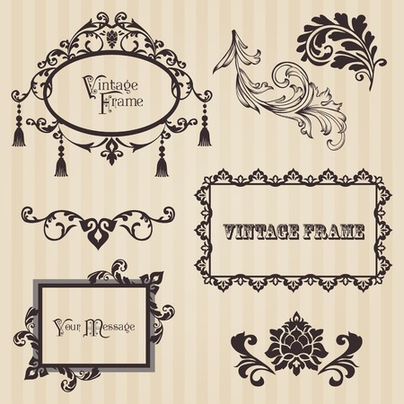 Vintage frames and design elements - with place for your text Stock Vector - 12056503