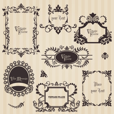 Vintage frames and design elements - with place for your text Stock Vector - 12056508