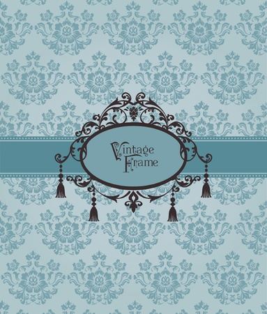 Beautiful Retro Card - for invitation, greetings, congratulation, wedding Stock Vector - 12056510