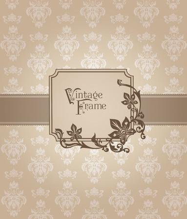 Beautiful Retro Card - for invitation, greetings, congratulation, wedding Stock Vector - 12056525