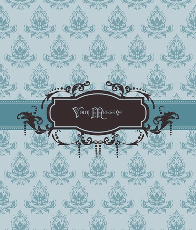 Beautiful Retro Card - for invitation, greetings, congratulation, wedding  Vector