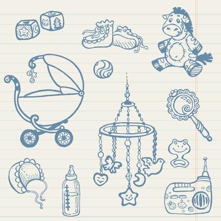 Baby doodles - Hand getrokken collectie