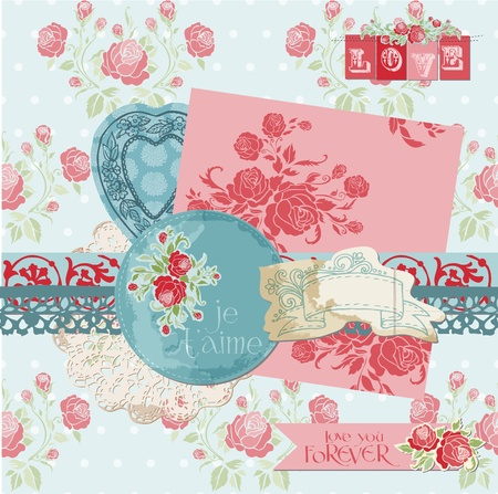 Scrapbook Design Elements - Vintage Flowers  Stock Vector - 12185979