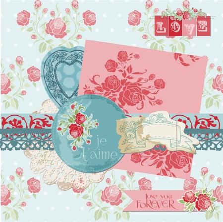 Scrapbook Design Elements - Vintage Flowers Stock Vector - 12185979