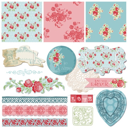 postcard vintage: Scrapbook Design Elements - Vintage Flowers