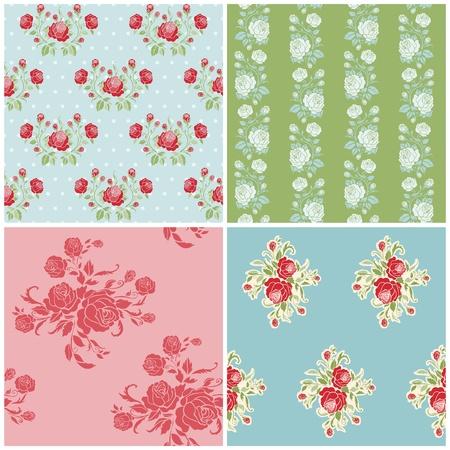Seamless Set Floral Background Belle - pour la conception de votre album et de