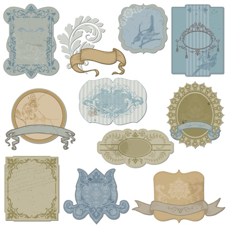 Vintage Set of Labels and Tags - in vector Vector