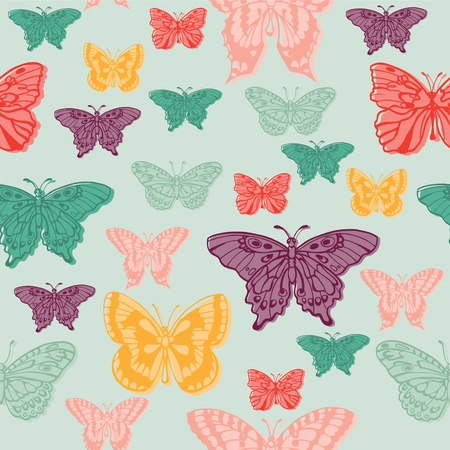 Colorful background with butterflies - for scrapbooking or design in vector Vector