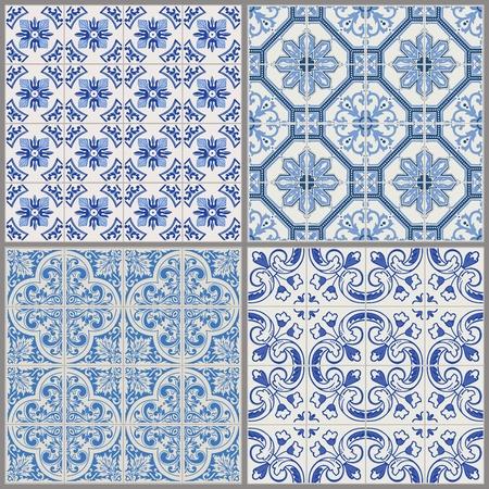 azulejos ceramicos: Colecci�n de fondo sin fisuras Vintage - Tile victoriana en el vector Vectores